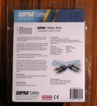 Кабель Supra Dual RCA  коробка
