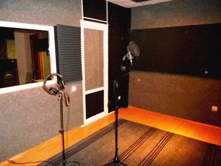 акустический поролон в студии звукозаписи