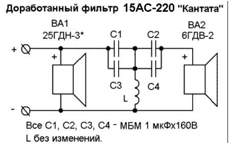 15 ас 220 фильтр схема