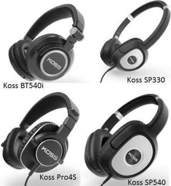 Koss BT540i_Koss Pro4S_Koss SP330_Koss SP540