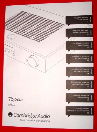 инструкция усилитель Cambridge Audio Topaz AM5