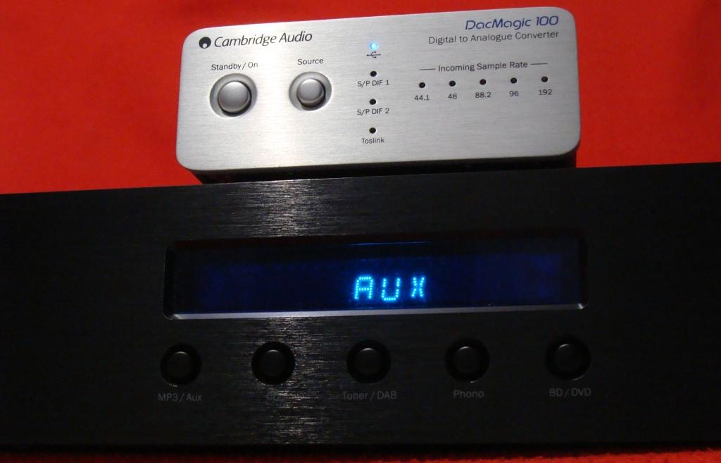 Cambridge Audio Topaz AM10Audio +DacMagic 100
