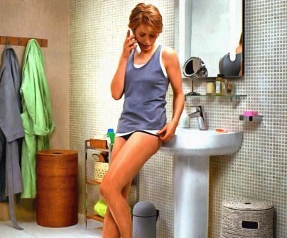 ванная комната и девушка