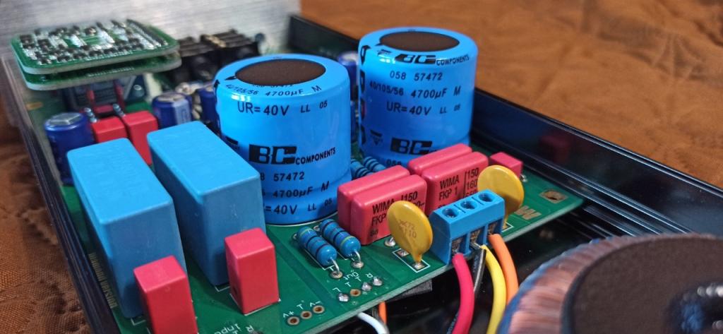 ВС конденсаторы в усилителе для наушников клон Lehmann