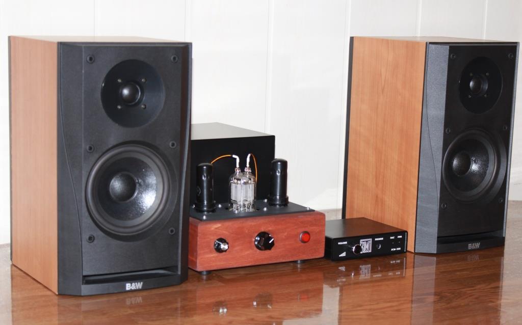ЦАП ЗМ РСМ 500 + ламповый усилитель ГМИ 6 + b&W302