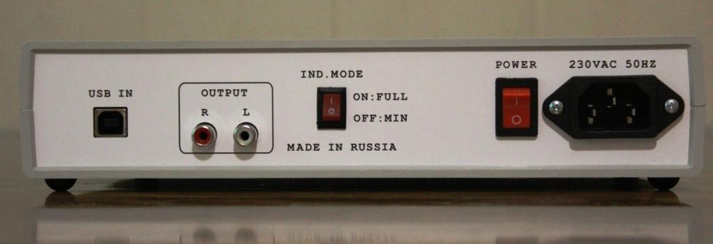ЦАП ESS-902 ЗМ задняя панель