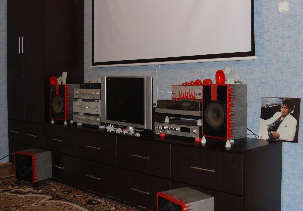 моя первая стерео-система-)