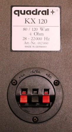 Quadral KX 120 II задняя панель