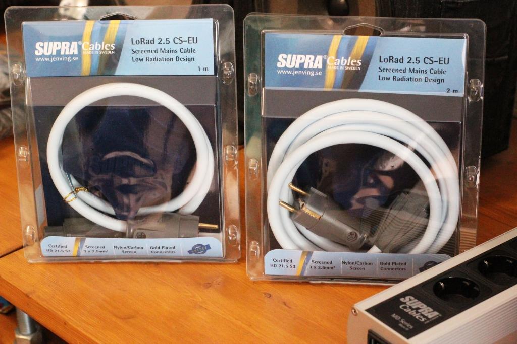 Силовой кабель Supra LoRad CS-EU (3x2.5) 1м и 2м