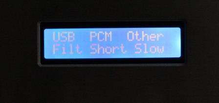 дисплей на ЦАП Audiophile V2 на 2 х AK4497EQ