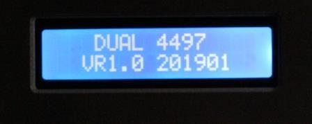 дисплей на ЦАП Audiophile V2 AK4497EQ