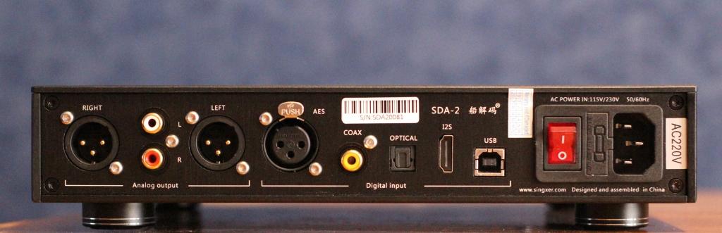 задняя панель Singxer SDA-2