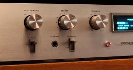 передняя панель усилитель Pioneer SA510