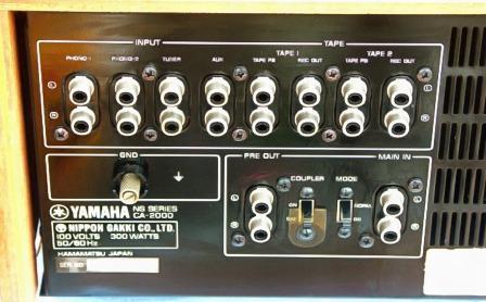 Yamaha CA-2000  задняя панель