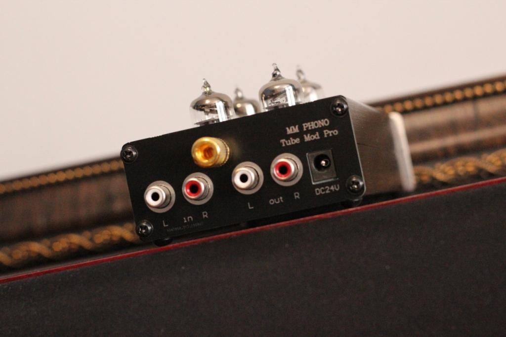 Фонокорректор ламповый задняя панель