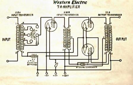 7A Western Electric ламповый усилитель схема