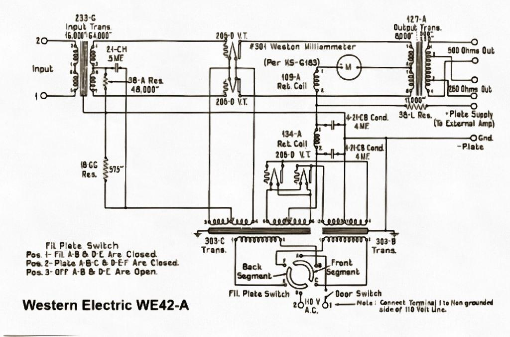 we42a усилитель ламповый схема