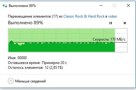 копирование в NAS скорость максимальная с диска на диск