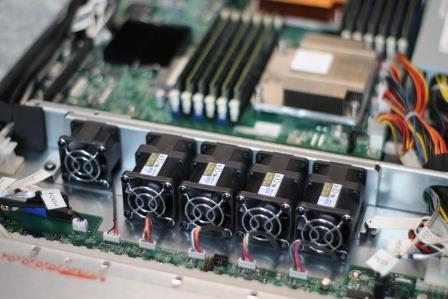 NAS на базе сервера вентиляторы турбинные