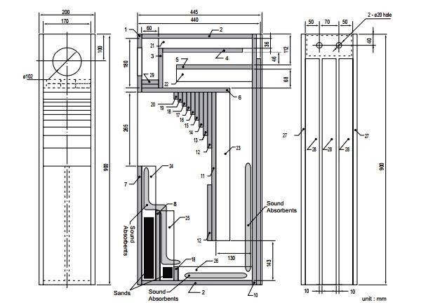 fostex-fe108 схема акустики